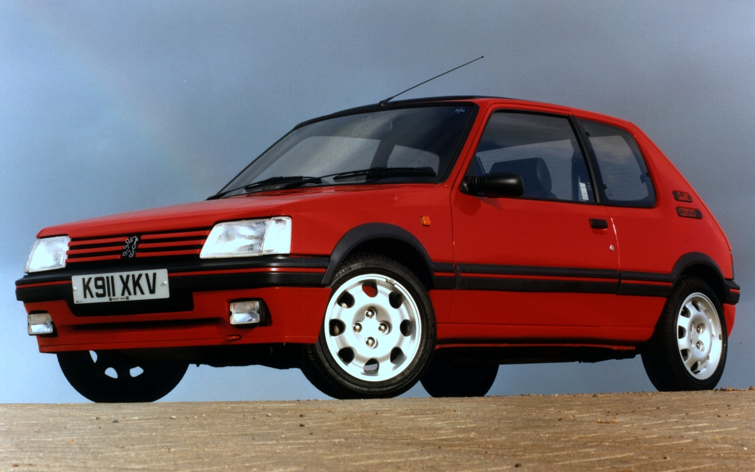 pug1off creates updated peugeot 205 gti 195 the driven. Black Bedroom Furniture Sets. Home Design Ideas