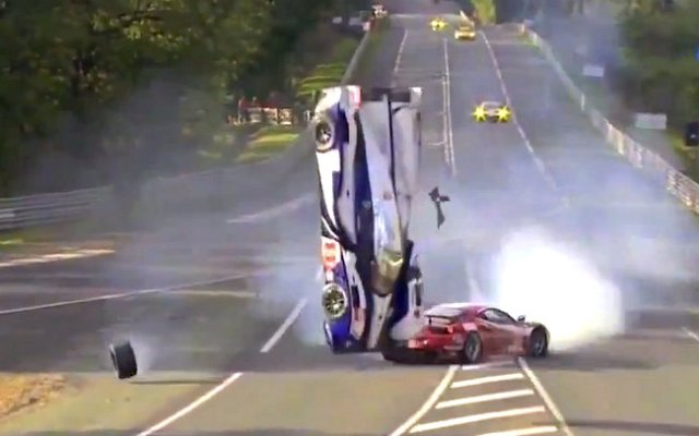 Anthony Davidson Le Mans 2012 Toyota Crash