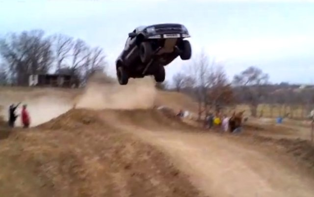 Ford Raptor jumps 90 feet video