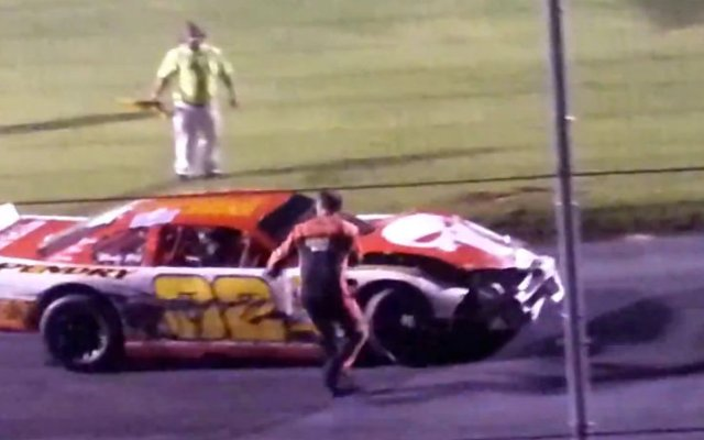 Bowman Gray Stadium Drivers Fight