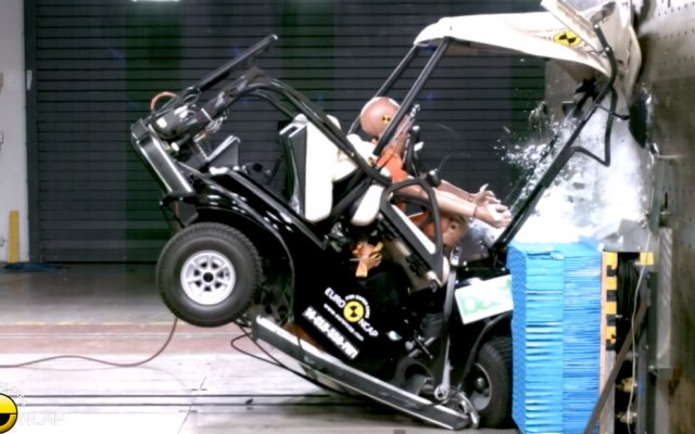 Euro NCAP Golf Cart crash test Club Car Villager