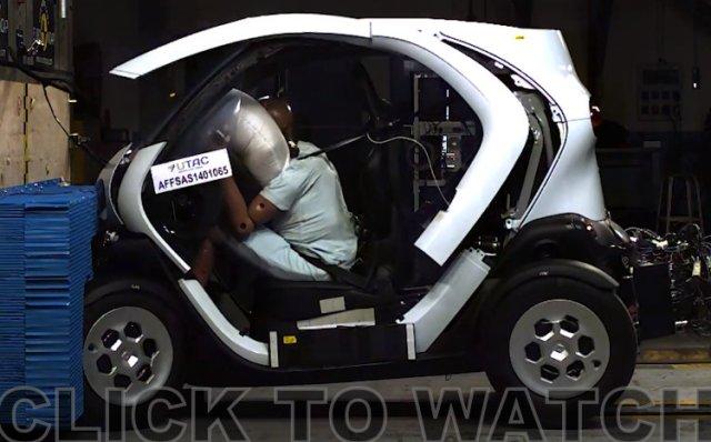 Reanult Twizy NCAP crash test