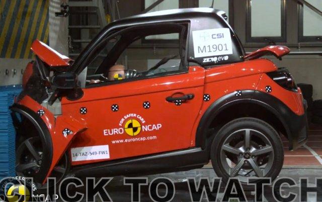Tazzari NCAP crash test