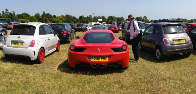 Goodwood Festival of Speed car park Ferrari