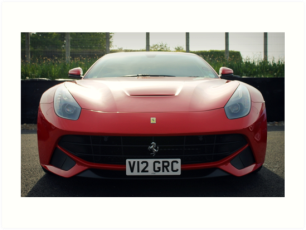 Ferrari F12 Berlinetta print poster