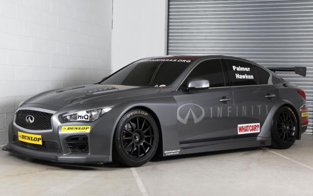 Infiniti support our paras racing team q50 btcc race car