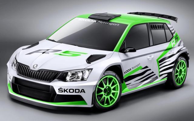 Skoda Fabia 2015 R5 Rally car