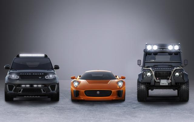 Jaguar C-X75, Range Rover Sport SVR, Land Rover Defender Big Foot, James Bond 007 Spectre