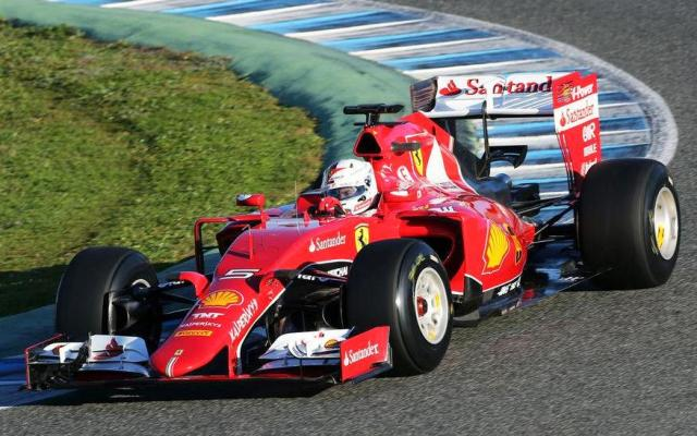 Vettel Ferrari SF15-T F1 testing 2015 Jerez