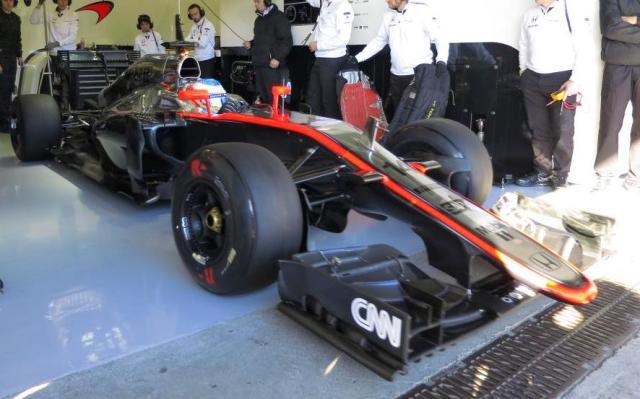 McLaren 2015 F1 Jerez testing Alonso