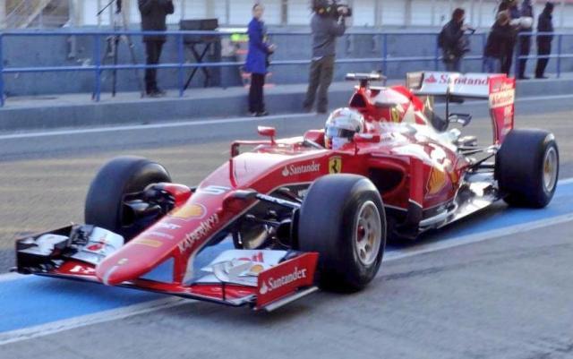 Ferrari 2015 F1 Jerez testing Vettel