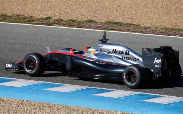 McLaren F1 2015 Jerez testing Alonso