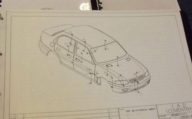 Metro saloon Zagato blueprints sale ebay