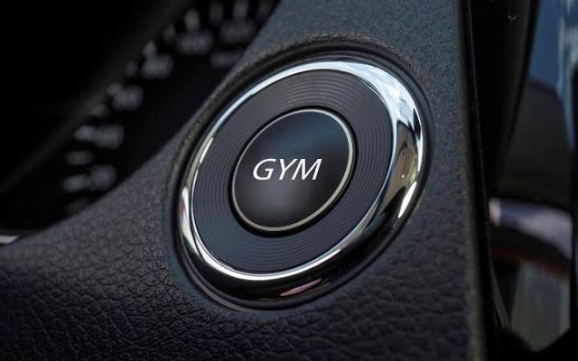 Nissan in-car gym april fools' 2015