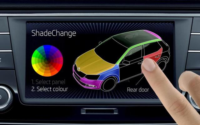 Skoda Fabia colour shade change dashboard april fools' 2015