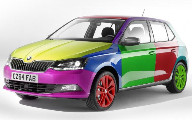 Skoda Fabia colour shade change april fools 2015