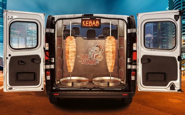Vauxhall Abra Kebabra kebab taxi Vivaro apri lfools 2015
