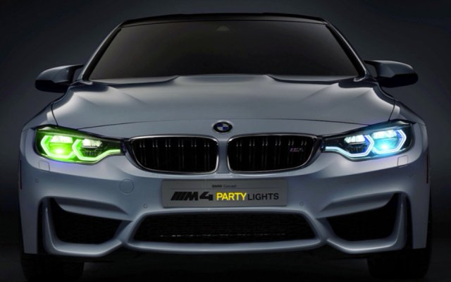 BMW M4 Party lights april fools' 2015