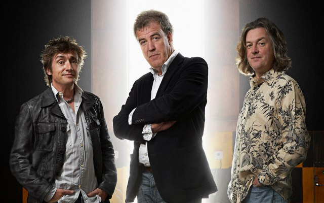 BBC Top Gear presenters Jeremy Clarkson, James May and Richard Hammond