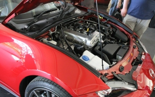Mazda MX-5 engine detail Goodwood Festival of Speed 2015