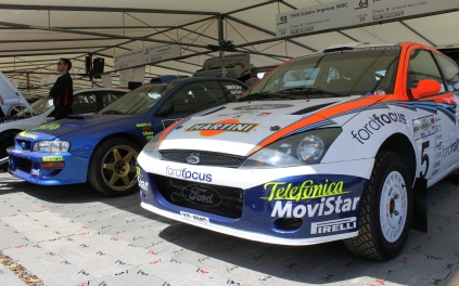 Ford Focus and Subaru Impreza WRC Colin McRae Goodwood Festival of Speed 2015