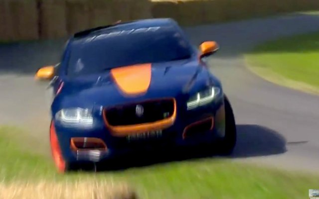 Jaguar XJ Andy Green crash Goodwood Festival of Speed 2015