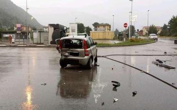 Lancia Delta Integrale crash Fiat Panda