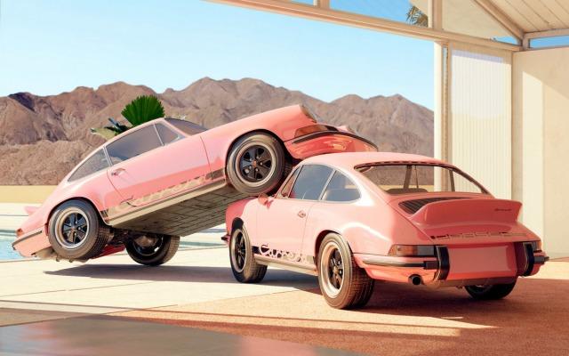Chris Labrooy Pink Porsche 911 art sculpture 2