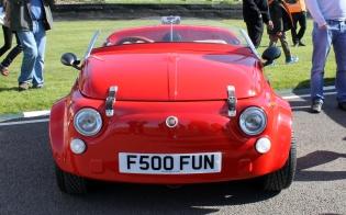 Fiat 500 custom speedster Goodwood Breakfast Club Soft Top Sunday May 2016
