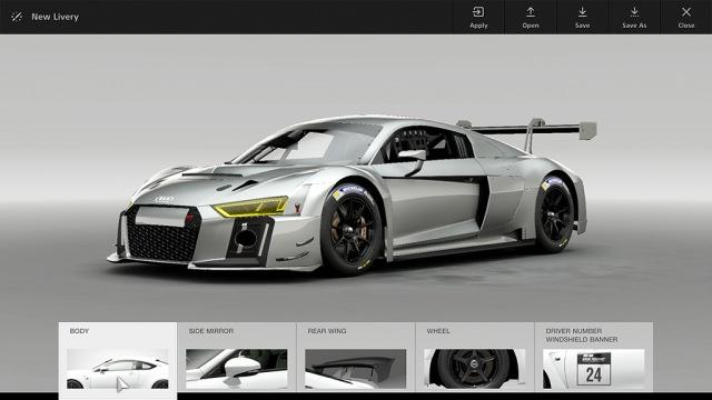 Gran Turismo Sport Audi R6 GT Livery Editor