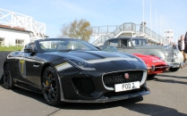 Jaguar F-Type Project 7 at Goodwood Breakfast Club Soft Top Sunday May 2016