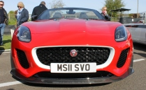 Jaguar F-Type Project 7 front Goodwood Breakfast Club Soft Top Sunday May 2016