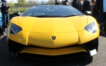 Lamborghini Aventador SV front Goodwood Breakfast Club Soft Top Sunday May 2016
