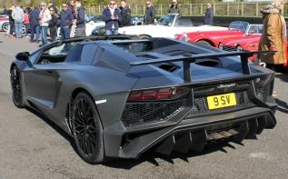 Lamborghini Aventador SV rear Goodwood Breakfast Club Soft Top Sunday May 2016