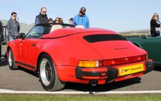 Porsche 911 Speedster rear Goodwood Breakfast Club Soft Top Sunday May 2016