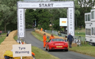 Ferrari start line Cholmondeley Power and Speed 2016