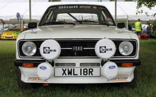 Ford Escort MK2 rally car front Cholmondeley Power and Speed 2016