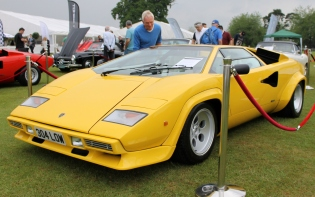 Lamborghini Countach yellow front Cholmondeley Power and Speed 2016