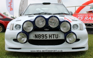 MK5 Ford Escort RS Rally car front spotlights Cholmondeley Power and Speed 2016