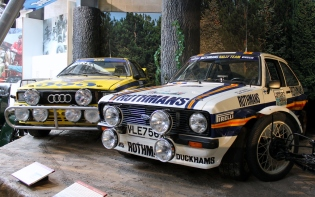 Ford Escort Audi Quattro rally cars Beaulieu