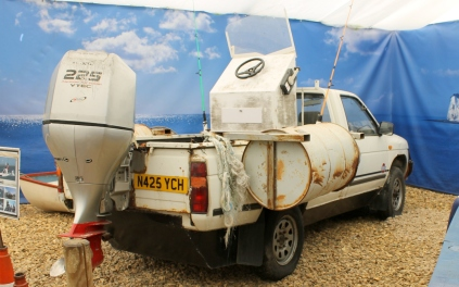 Nissan Pick Up Truck boat Jeremy Clarkson Top Gear Beaulieu