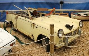 Triumph Herald car boat Top Gear James May Beaulieu